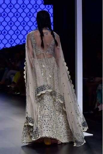 PS-FW499-2  Blush Colour Silk Choli with Lehenga and Net Dupatta.