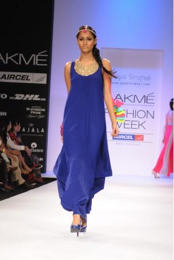 PS-FW145 Cobalt Blue Long Cowl Dress