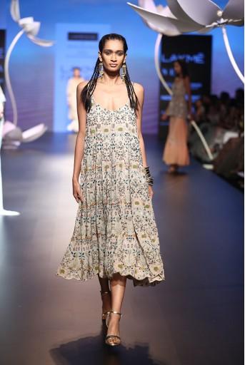PS-FW539 Ebru Stone Georgette Dress