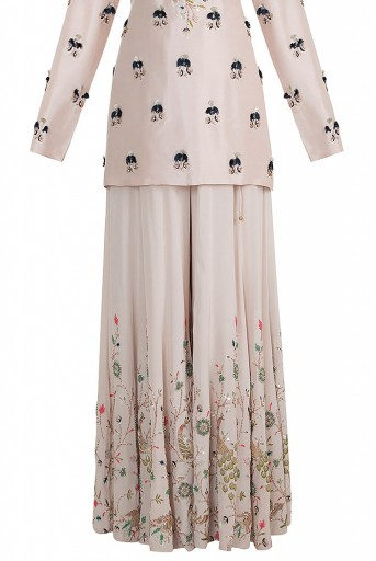 PS-FW603 Izel Stone Silk High-Low Kurta with Sharara