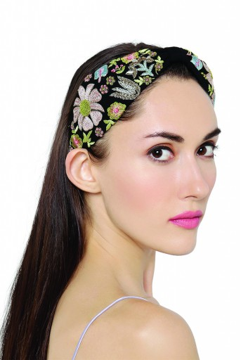 JPPS02 Aria Tulip Black Handcrafted headband from PayalSinghal and Joey and Pooh collab collection