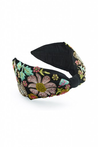 JPPS02 Joey & Pooh X Payal Singhal Aria Tulip Black Headband
