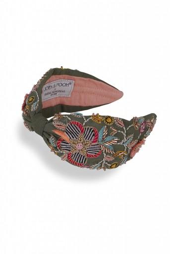 JPPS25  Joey & Pooh X Payal Singhal Faye Olive Headband