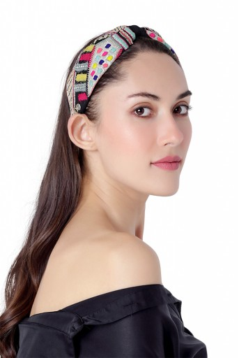JPPS22  Joey & Pooh X Payal Singhal Feriah Black Headband