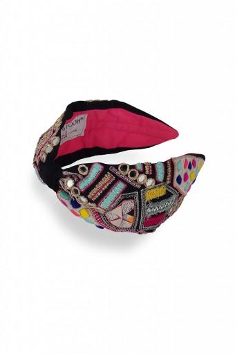 JPPS22  Joey & Pooh X Payal Singhal Feriah Black Headband