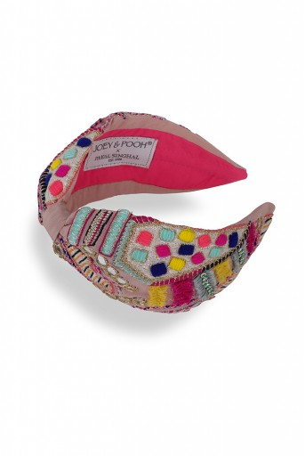 JPPS23  Joey & Pooh X Payal Singhal Feriah Pink Headband