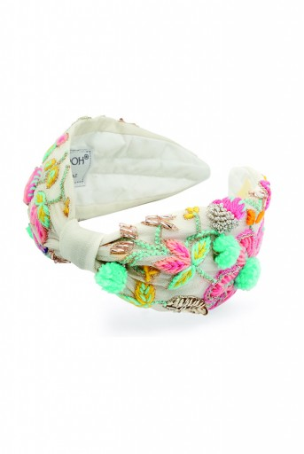 JPPS10 Layla Chalk White Handcrafted headband from PayalSinghal and Joey and Pooh collab collection.