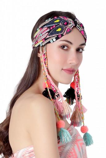 JPPS30  Joey & Pooh X Payal Singhal Malia Black Headband