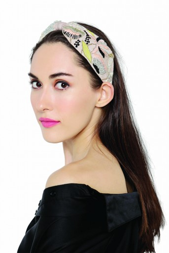 JPPS07 Skye Birdie Handcrafted headband from PayalSinghal and Joey and Pooh collab collection.