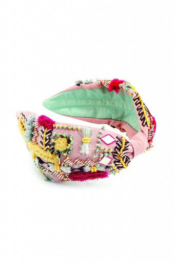 JPPS06 Soraya Rose pink Handcrafted headband from PayalSinghal and Joey and Pooh collab collection