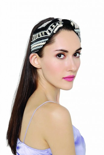 JPPS09 Joey & Pooh X Payal Singhal Tamara Black Headband