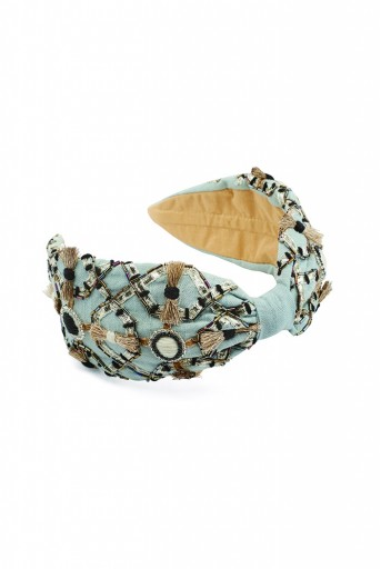 JPPS05 Zara Pale Blue Handcrafted headband from PayalSinghal and Joey and Pooh collab collection