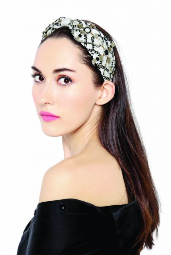 JPPS04 Zara Chalk White Handcrafted headband from PayalSinghal and Joey and Pooh collab collection