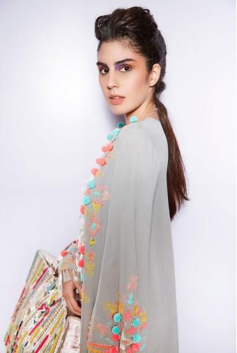 PS-FW670 Marita Grey Georgette Dress