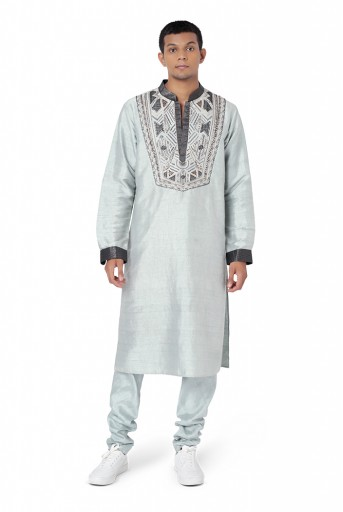 PS-FW775  Plae Blue Colour Dupion Silk Kurta with Churidar