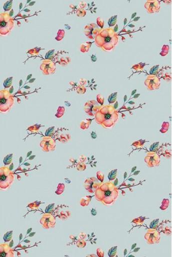 PS-TU0820  Cherry Blossom Print Full Width Scarf