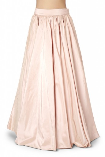 PS-ST1385-1  Rose Pink Colour Net Cape with Silk Bustier and Lehenga