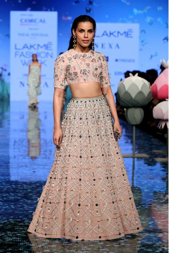 PS-FW726 Sasha Blush Choli and Lehenga