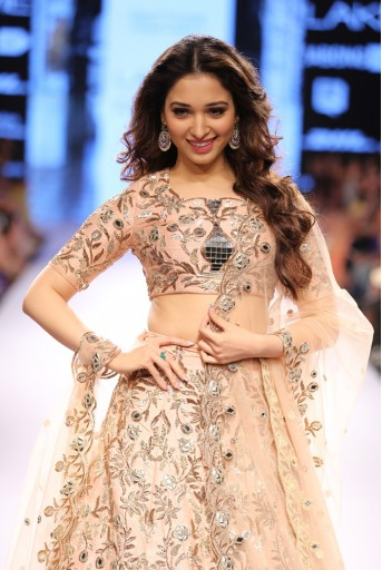 PS-FW325 Tamannaah Blush Dupion Silk Choli with Lehenga and Tulle Dupatta